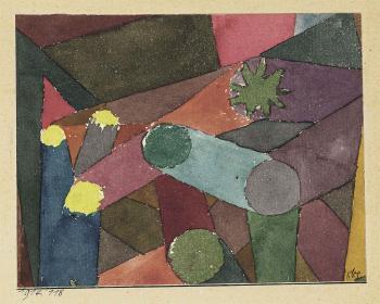 Paul Klee-Abstract Garten Dammerung-1914