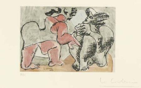 Deux figures grotesques-1938