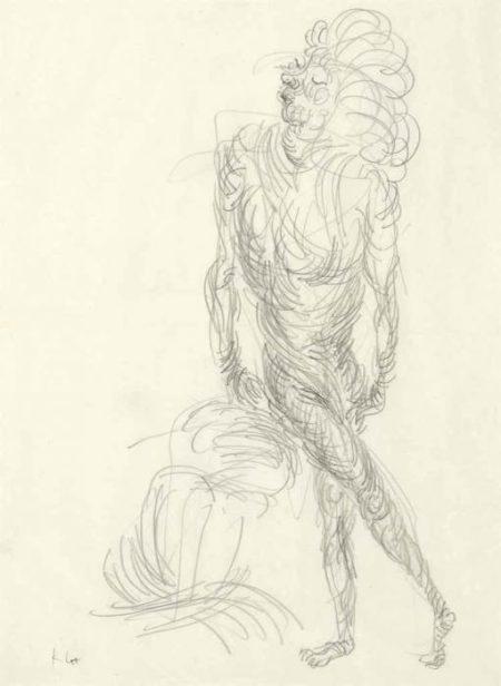 Paul Klee-Akt in Geschraubter Bewegung (Nude in Spiralling Movement)-1933