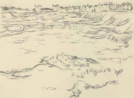 Paul Klee-Bei Munchen, Die Militarkiesgrube, im Hintergrund die Ersten Hauser von Milbertshofen-1910