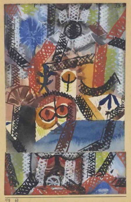 Paul Klee-Barbarische Komposition-1918