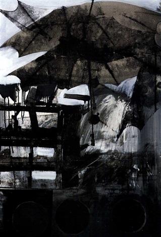 Robert Rauschenberg-Robert Rauschenberg - Untitled (Small Oil On Canvas # 3)-1963
