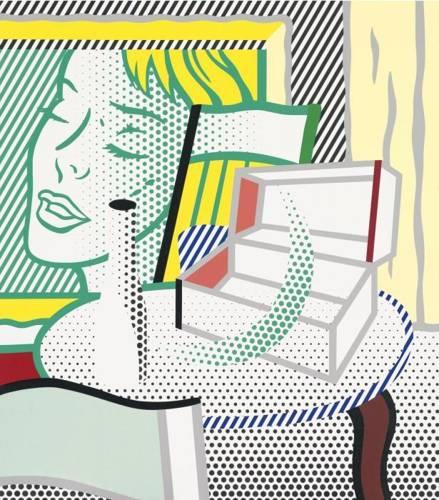 Roy Lichtenstein-Interior with Painting and Still Life-1997