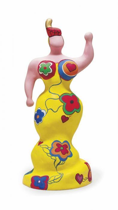 Niki de Saint Phalle-Nana rose trophee ou Nana mode, (Nana)-1986