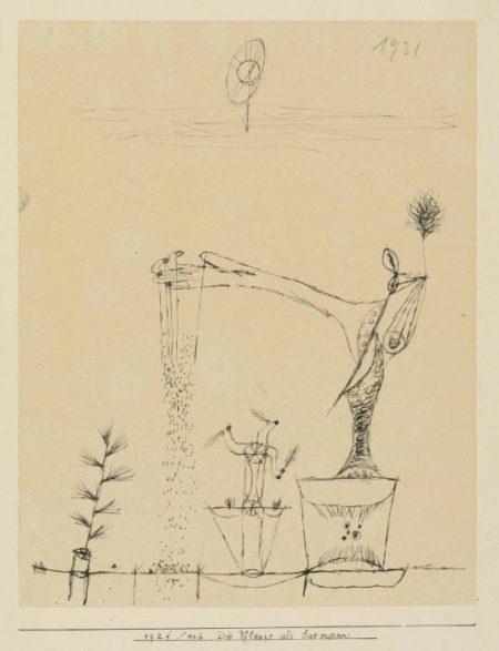 Paul Klee-Die Pflanze Als Saemann-1921