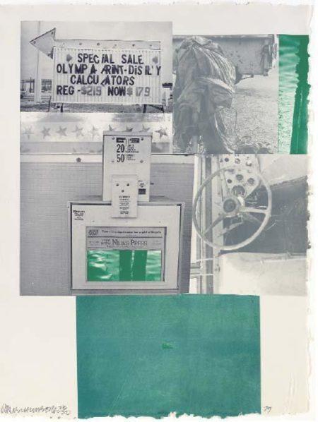Robert Rauschenberg-Robert Rauschenberg - Rookery Mounds (Level)-1979