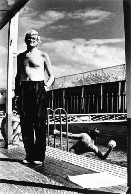 Helmut Newton-David Hockney; Salvador Dali; Andy Warhol-1975