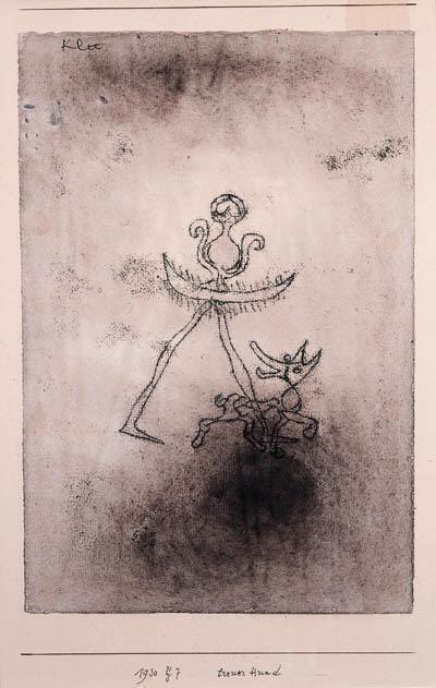 Paul Klee-Treur Hund-1930