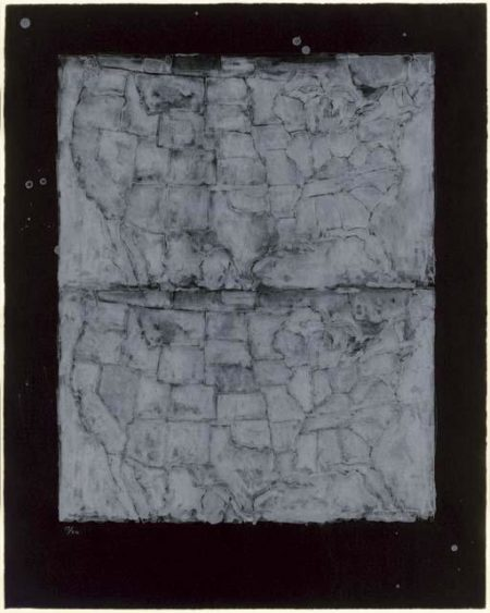 Jasper Johns-Two Maps I (ulae 23)-1966