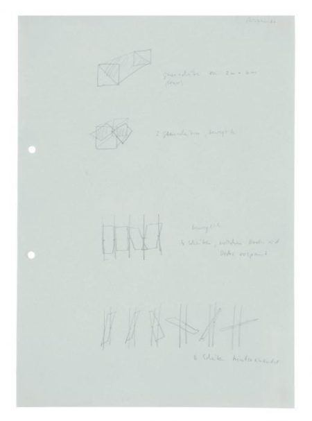 Gerhard Richter-Studie fur 4 Glasscheiben (Study For 4 Glass Panes)-1966