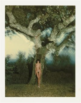Helmut Newton-Tied to my big tree in Ramatuelle-1978