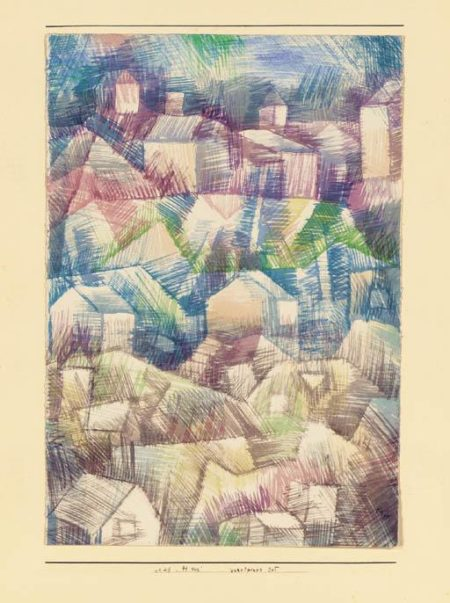 Paul Klee-Voralpiner Ort-1925