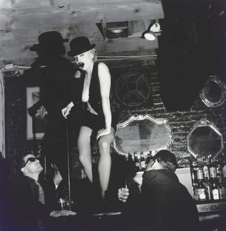 Madonna dancing on Bar with Beer Bottle, Hollywood-1990