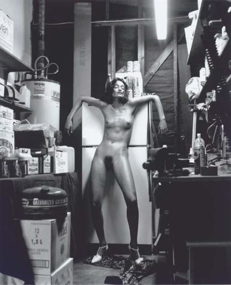 Helmut Newton-Domestic Nude II, waiting for the Earthquake, Los Angeles-1992