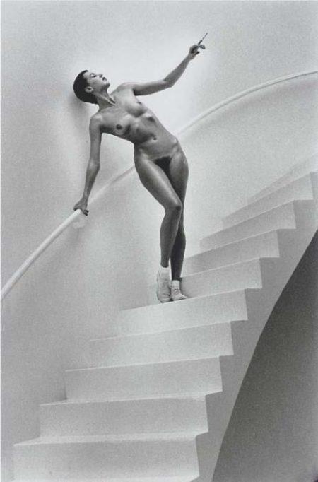 Helmut Newton-Jenny Kapitan In My Studio (1978)-1978
