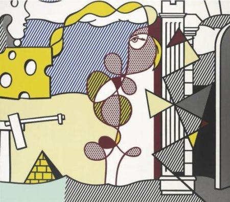 Roy Lichtenstein-Figures in Landscape-1977