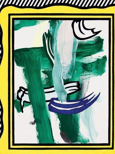 Roy Lichtenstein-Abstraction with Frame I-1982