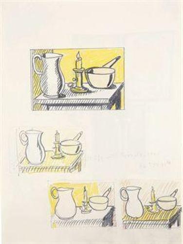 Roy Lichtenstein-Still life with casserole-1945