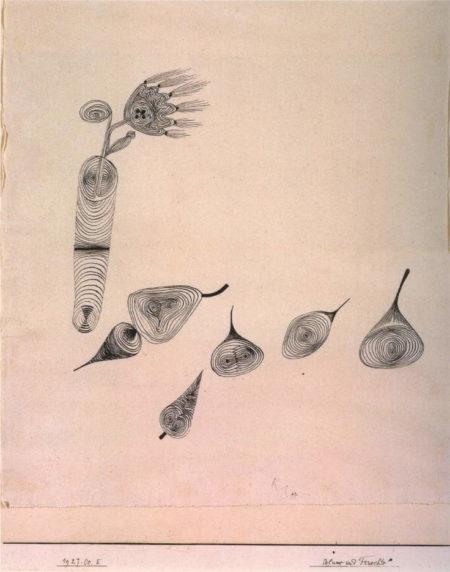 Paul Klee-Blume Und Fruchte-1927