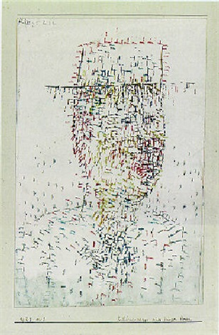 Paul Klee-Bildnisskizze Eines Jungen Herrn-1925