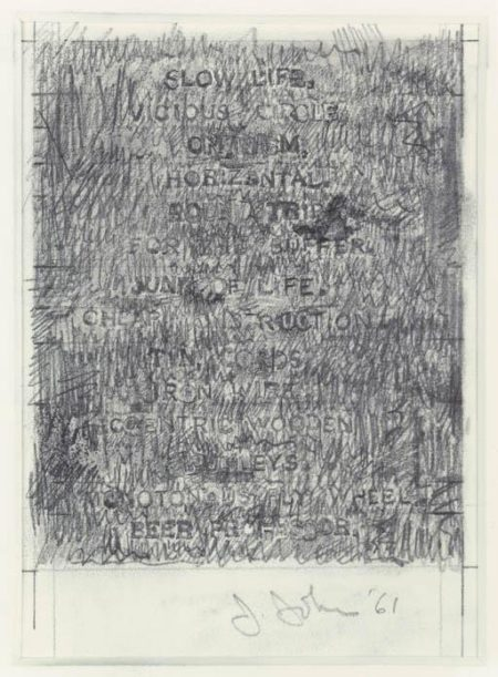 Jasper Johns-Litanies of the Chariot-1961