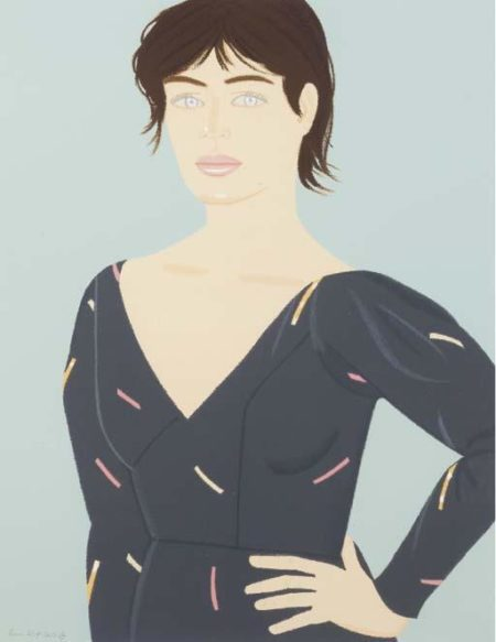 Alex Katz-Grey Dress (Laura)-1992