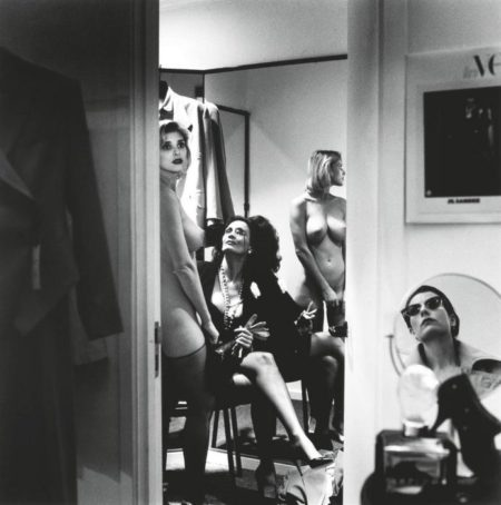 Helmut Newton-Voyeurism in Dressing Room, Los Angeles-1989