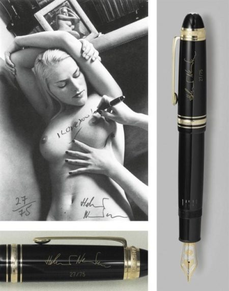 Helmut Newton-Photograph And Fountain Pen From A Helmut Newton Montblancmeisterstuck Set (1999)-1999