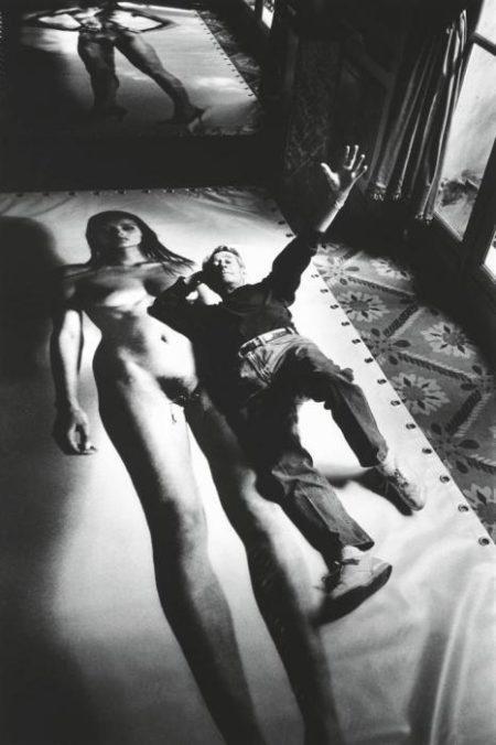 Helmut Newton-Self Portrait with Big Nude, Paris-1994