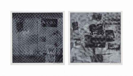 Robert Rauschenberg-Robert Rauschenberg - Surface Series # 51 and # 40 (From Currents) (F. 122)-1970