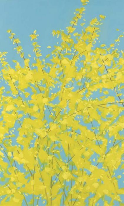 Alex Katz-Forsythia-1997