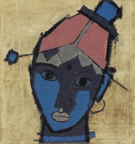 Maqbool Fida Husain-Untitled (Tribal Woman)-