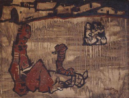 Maqbool Fida Husain-Untitled-1954