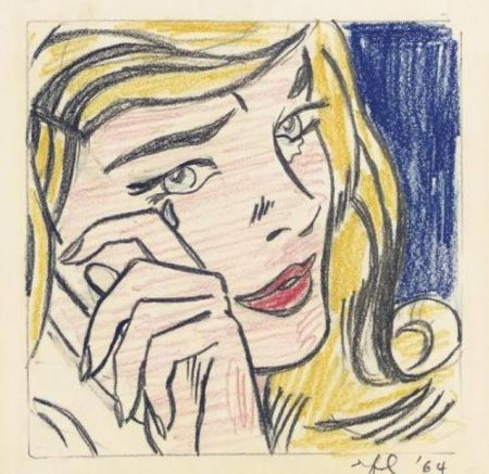 Roy Lichtenstein-Study for crying Girl-1964