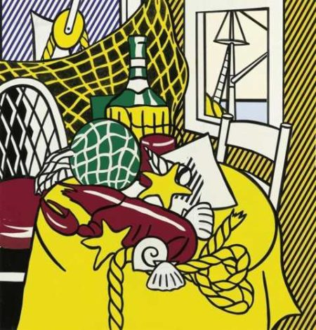Roy Lichtenstein-Collage for Still Life with Lobster-1973