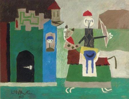 Roy Lichtenstein-The Hero Returns-1950