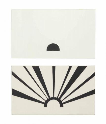Roy Lichtenstein-Sunrise and Sunset-1964