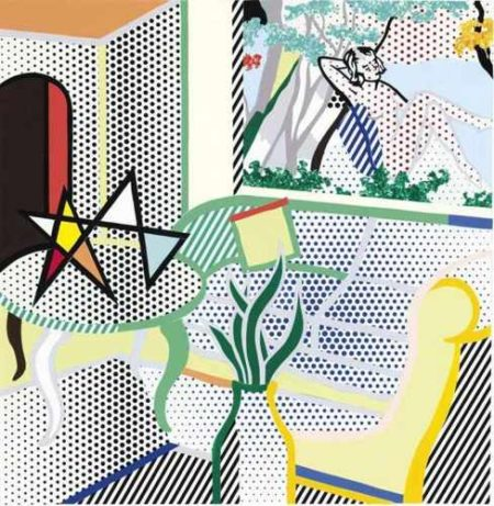 Roy Lichtenstein-Collage for Interior with Painting of Bather-1997