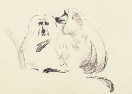 Edvard Munch-Lion Apes (Schiefler 436; Woll 458)-1913