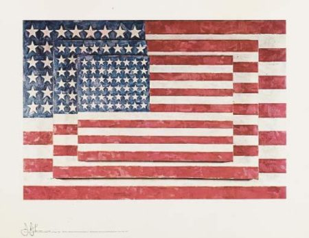 Jasper Johns-Three Flags: (i) Lands; (ii) End; (iii) Savarin-