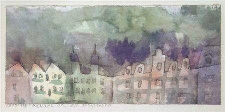 Paul Klee-Hauser An Der Peripherie-1913