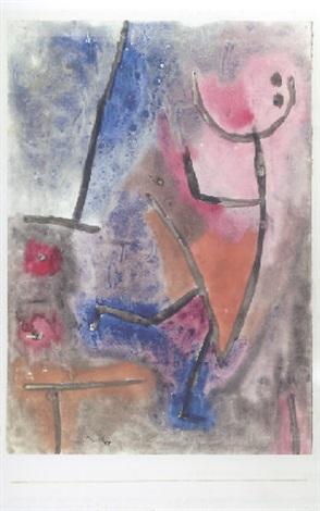 Paul Klee-Tritt Herab-1939