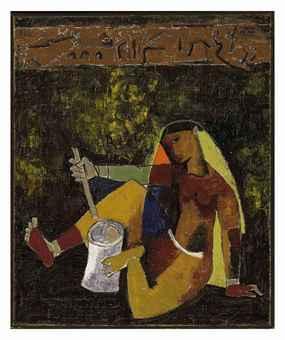 Maqbool Fida Husain-Village Woman-1954