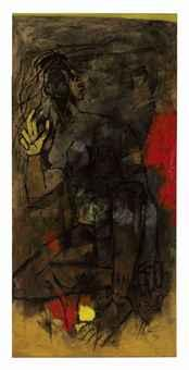 Maqbool Fida Husain-Untitled (Nude)-