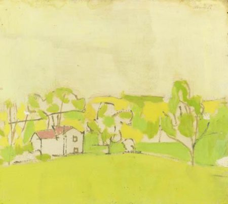 Alex Katz-Yellow and Green Landscape-