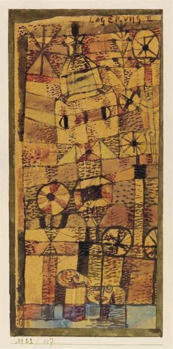 Paul Klee-Lagerung II-1922