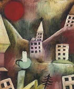 Paul Klee-Zerstortes Dorf/Ohne Titel-1920