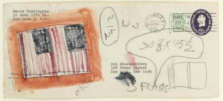 Jasper Johns-Untitled (Envelope Rauschenberg-Cunningham)-1959