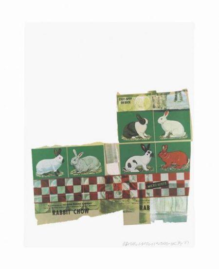 Robert Rauschenberg-Robert Rauschenberg - Rabbit/Mink (From Chow Bags)-1977