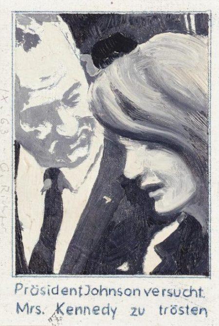 Gerhard Richter-President Johnson consoles Mrs Kennedy-1963
